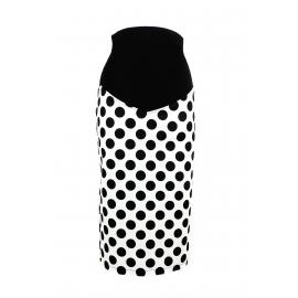 """Gigi"" Black & White Polka dot Skirt"