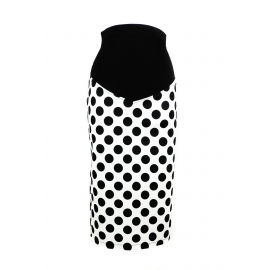 """Gigi"" Black & White Polka dot Skirt"