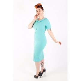 virgine robe droite turquoise