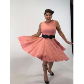 nelly  Robe Circulaire rose