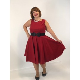 Nelly  Robe Circulaire rouge