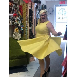 Nelly  Robe Circulaire jaune