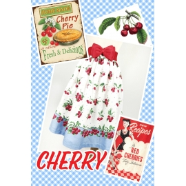 """Kate"" gathered skirt in ""Cherry"" print"