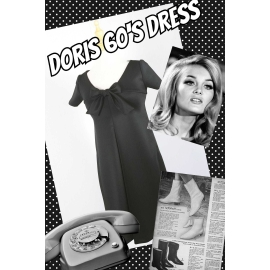 """Doris"" 60's inspired dress in black"
