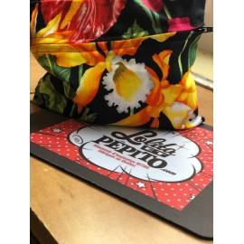 pochette pour  Les masque en coton* fleurs