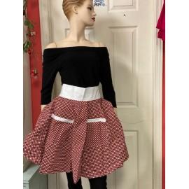 Le tablier style jupe*brun...