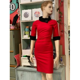 """""""Lucy"""" Robe Crayon  Rouge..."""