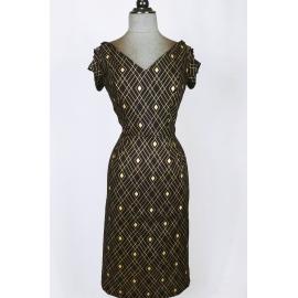 """Céleste"" pencil dress Art Deco inspired"