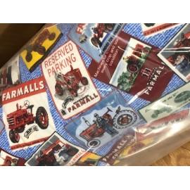 Tissu tracteur vintage