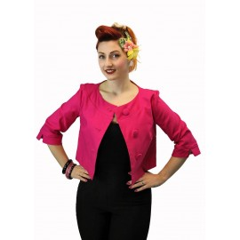 """Charlie"" short jacket in pink"