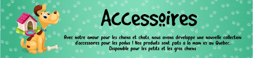Accessoires pour chiens et chats - Collier martingale, pochette et plus !