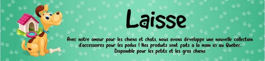 Laisse pour chien - Fait à la main au Québec ! Lolita et Pépito
