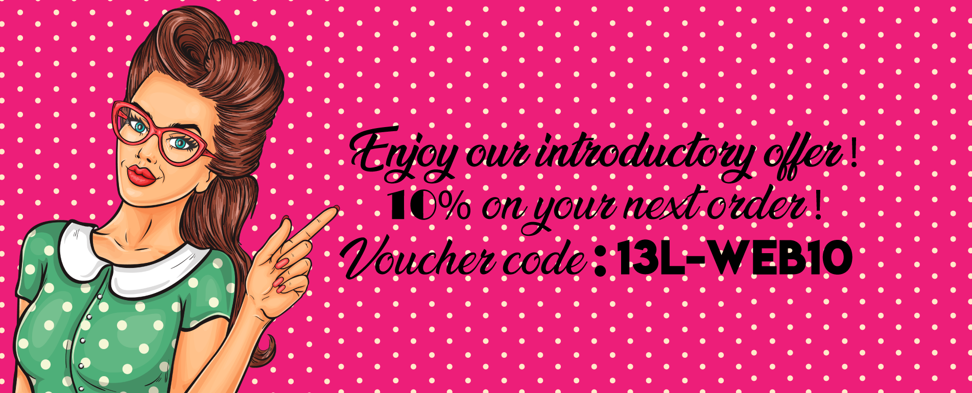 Voucher code new web site